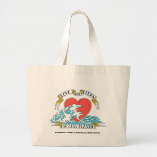 Älska hav & använd mindre plast-, www.oceanhea… jumbo tygkasse