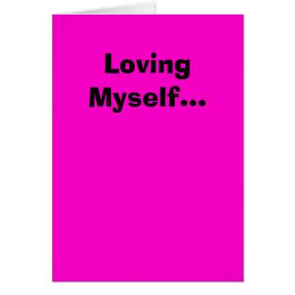 Älska jag själv… hälsningskort