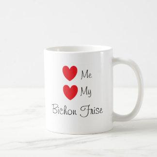 """""""Älska mig, älskar min den Bichon Frise"""" muggen Kaffemugg"""