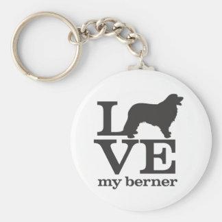 Älska min Bernese berghund Rund Nyckelring