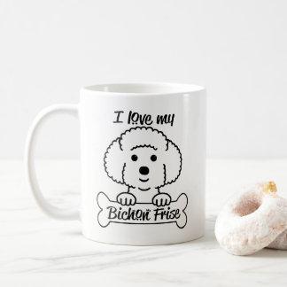Älska min Bichon Frise mugg