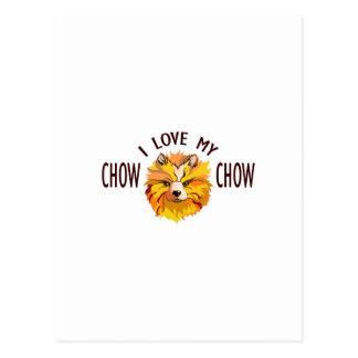 Älska min Chow Vykort