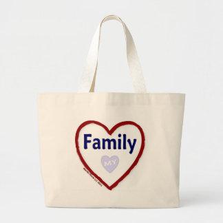 Älska min familj tote bags
