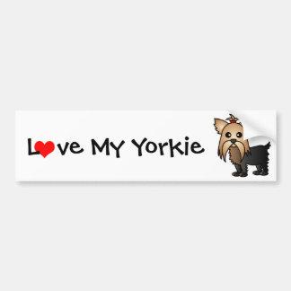 Älska min Yorkshire Terrier Bildekal