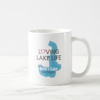 Älska sjöliv, djävulen sjö, Michigan Kaffemugg