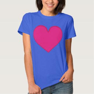 älska t-skjortan, hjärta, rosa hjärta, rosan, t-shirts