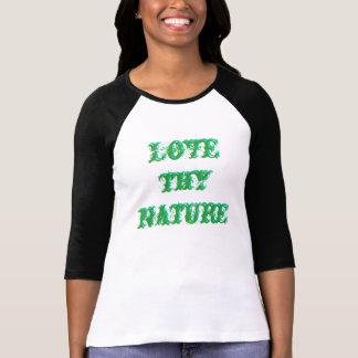 Älska thy 3-D textskjorta för naturen Tee Shirt