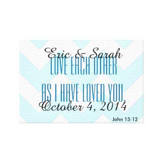 """""""Älska varje annat…"""", Den John 15:12 skräddarsy Canvastryck"""