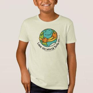 Älska världen som du är på tshirts