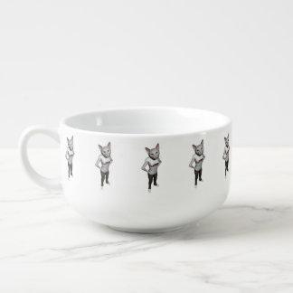 Älskar den Siamese katten för rolig vit möss Mugg För Soppa