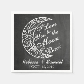 """""""Älskar drar tillbaka jag dig till månen och"""" Papper Servett"""
