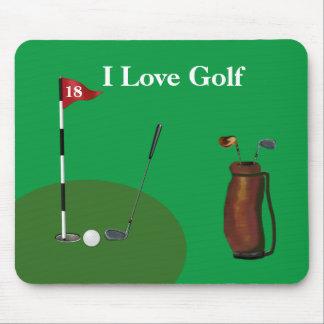 """""""Älskar hänger lös jag den Golf"""" Mousepad w/Golf Musmatta"""