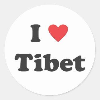 """""""Älskar jag den Tibet"""" klistermärken"""