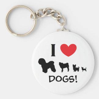 """""""Älskar jag hundar!"""", Nyckelring"""