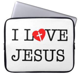 """""""Älskar jag Jesus"""" 15 flytta sig mycket långsamt Laptop Fodral"""