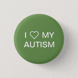 """""""Älskar jag min Autism"""" knäppas Mini Knapp Rund 3.2 Cm"""