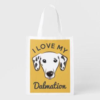 """""""Älskar jag min Dalmation"""" den återvinningsbara Återanvändbar Påse"""