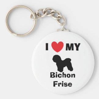 """""""Älskar jag min den Bichon Frise"""" nyckelringen Rund Nyckelring"""