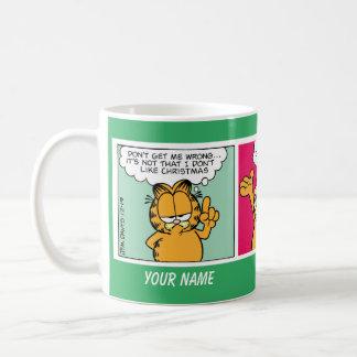 """""""Älskar jag muggen jul"""" Garfield för den komiska Vit Mugg"""