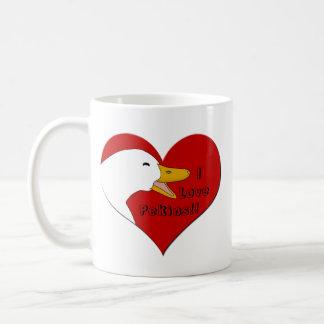 """""""Älskar jag muggen W/Hearts för kaffe för den Vit Mugg"""