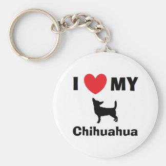 """""""Älskar jag nyckelringen för min Chihuahua"""" Rund Nyckelring"""