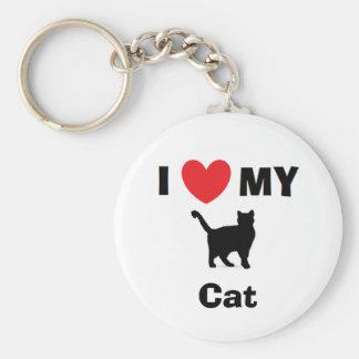 """""""Älskar jag nyckelringen för min katt"""" Rund Nyckelring"""