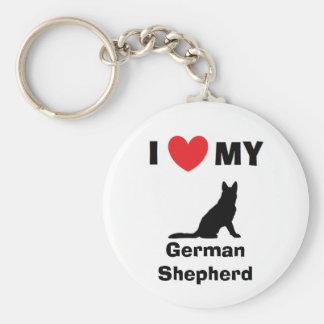 """""""Älskar jag nyckelringen för min tyska herde"""" Rund Nyckelring"""