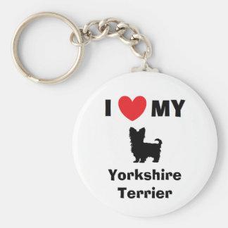 """""""Älskar jag nyckelringen för min Yorkshire Rund Nyckelring"""