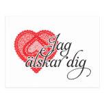 älskar pik för jag (svensken) vykort