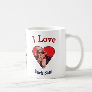 """""""Älskar sjunker jag Uncle Sam och """", Kaffemugg"""