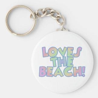 Älskar stranden rund nyckelring