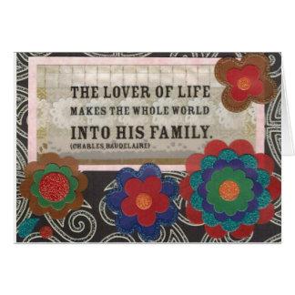Älskare av liv hälsningskort