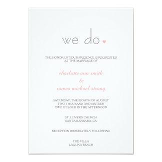{Älskare} den moderna bröllopinbjudan 12,7 X 17,8 Cm Inbjudningskort