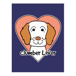 Älskare för Clumber Spaniel Vykort