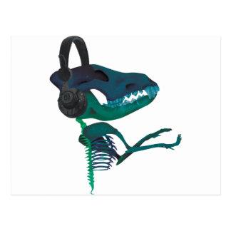 Älskare för musik för Wellcoda DinosaurHeadphone Vykort