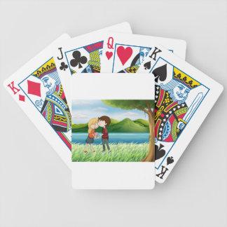 Älskare near floden spelkort