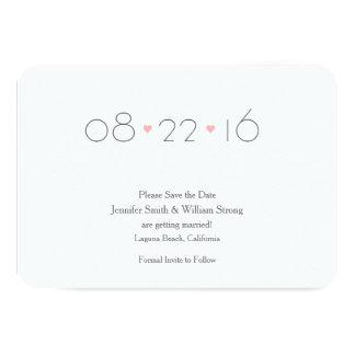 (Älskare} spara datum meddelande 8,9 X 12,7 Cm Inbjudningskort