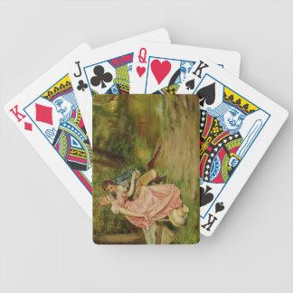 Älskarna (olja på kanfas) spelkort