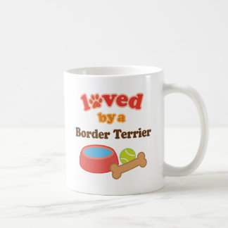 Älskat av en gränsTerrier (hund aveln) Kaffemugg