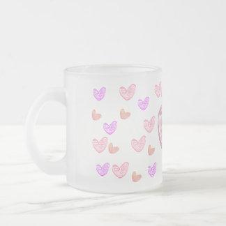 älsklingar frostad glas mugg