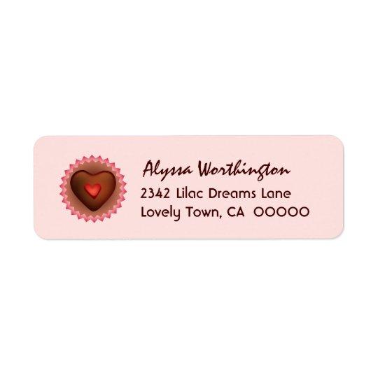 Älsklingchokladgodis A01 Returadress Etikett