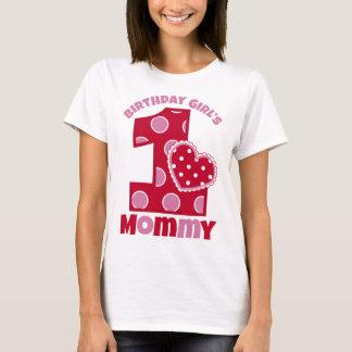 Älsklingfödelsedagflicka mammor t-shirt