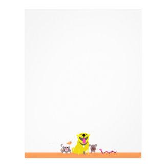 Älsklings- barnvakt brevhuvud-orange brevhuvud