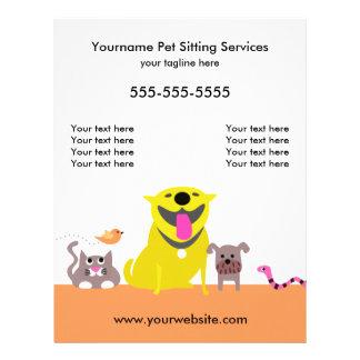 Älsklings- barnvakt Reklamblad-hund, katt, fågel, Reklamblad