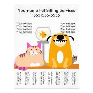 Älsklings- barnvakt reklamblad med märkre-hunden,