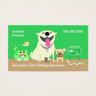 Älsklings- barnvaktaffärsKort-grönt Visitkort