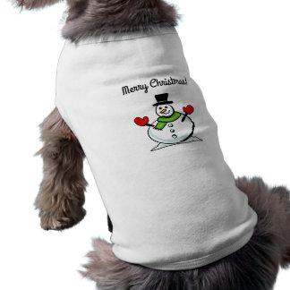 Älsklings- bekläda för god julsnögubbe för hund hundtröja