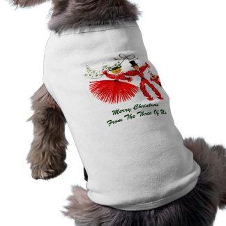 Älsklings- bekläda för vintagefamiljjul långärmad hundtöja