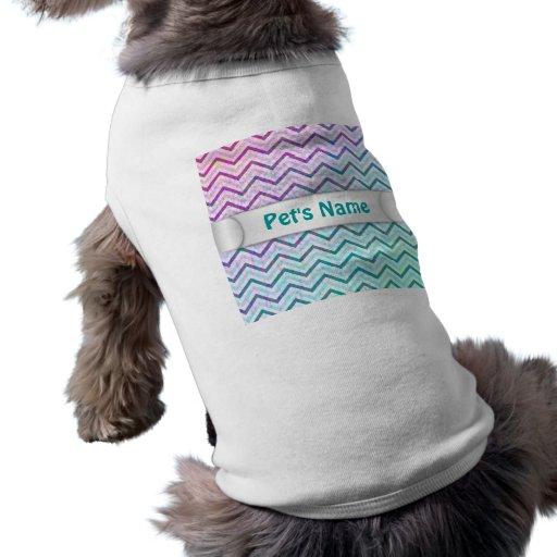 Älsklings- bekläda Retro sicksacksparremönster Djur Tee Shirt