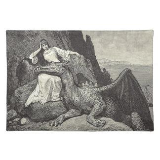 Älsklings- drake och jungfru bordstablett